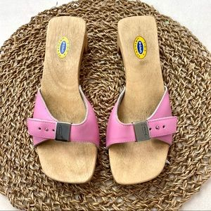 Dr. Scholl's Original Special Pink Leather Sandals